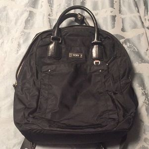 Tumi nylon backpack black with handles
